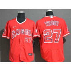 MLB Los Angeles Angels 27 Mike Trout Red 2020 Nike Flexbase Jersey