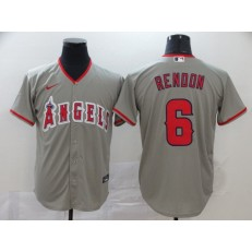 MLB Los Angeles Angels 6 Anthony Rendon Gray 2020 Nike Cool Base Jersey