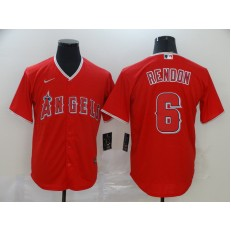 MLB Los Angeles Angels 6 Anthony Rendon Red 2020 Nike Cool Base Jersey