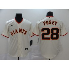 MLB San Francisco Giants #28 Buster Posey Cream 2020 Nike Cool Base Jersey