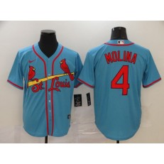 MLB St. Louis Cardinals #4 Yadier Molina Light Blue 2020 Nike Cool Base Jersey