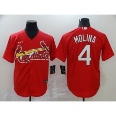 MLB St. Louis Cardinals #4 Yadier Molina Red 2020 Nike Cool Base Jersey