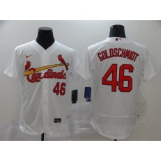 MLB St. Louis Cardinals #46 Paul Goldschmidt White 2020 Nike Flexbase Jersey