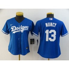 MLB Los Angeles Dodgers #13 Max Muncy Royal Women 2020 Nike Cool Base Jersey