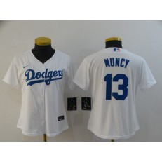 MLB Los Angeles Dodgers #13 Max Muncy White Women 2020 Nike Cool Base Jersey