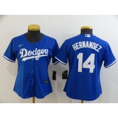 MLB Los Angeles Dodgers #14 Enrique Hernandez Royal Women 2020 Nike Cool Base Jersey