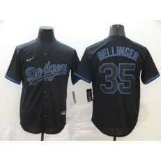 MLB Los Angeles Dodgers #35 Cody Bellinger Black Shadow 2020 Nike Cool Base Jersey