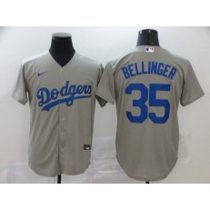 MLB Los Angeles Dodgers #35 Cody Bellinger Gray 2020 Nike Cool Base Jersey