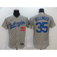 MLB Los Angeles Dodgers #35 Cody Bellinger Gray 2020 Nike Flexbase Jersey