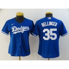 MLB Los Angeles Dodgers #35 Cody Bellinger Royal Women 2020 Nike Cool Base Jersey