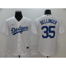 MLB Los Angeles Dodgers #35 Cody Bellinger White 2020 Nike Cool Base Jersey