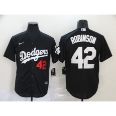 MLB Los Angeles Dodgers #42 Jackie Robinson Black 2020 Nike Cool Base Jersey