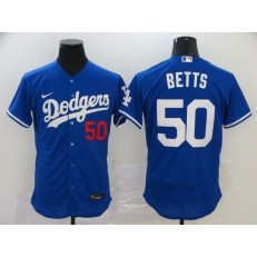 MLB Los Angeles Dodgers #50 Mookie Betts Royal 2020 Nike Flexbase Jersey