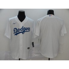 MLB Los Angeles Dodgers Blank White 2020 Nike Cool Base Jersey