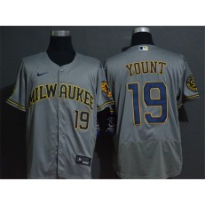 MLB Milwaukee Brewers #19 Robin Yount Gray 2020 Nike Flexbase Jersey