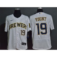 MLB Milwaukee Brewers #19 Robin Yount White 2020 Nike Flexbase Jersey