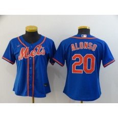 MLB New York Mets #20 Pete Alonso Royal Women 2020 Nike Flexbase Jersey