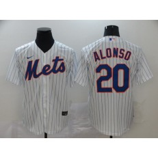MLB New York Mets #20 Pete Alonso White 2020 Nike Cool Base Jersey