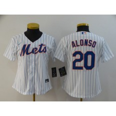 MLB New York Mets #20 Pete Alonso White Women 2020 Nike Flexbase Jersey