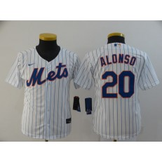MLB New York Mets #20 Pete Alonso White Youth 2020 Nike Flexbase Jersey