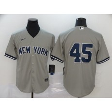MLB New York Yankees #45 Gerrit Cole Gray 2020 Nike Cool Base Replica Player Jersey