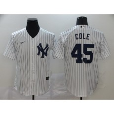 MLB New York Yankees #45 Gerrit Cole White 2020 Nike Cool Base Jersey
