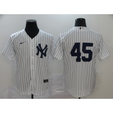 MLB New York Yankees #45 Gerrit Cole White 2020 Nike Cool Base Replica Player Jersey