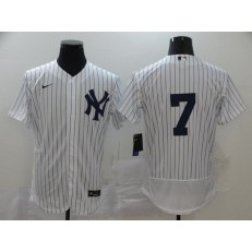 MLB New York Yankees #7 Mickey Mantle White 2020 Nike Cool Base Jersey