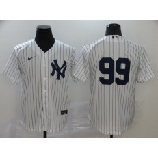MLB New York Yankees #99 Aaron Judge White 2020 Nike Cool Base Replica Player Jersey
