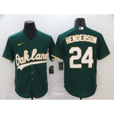 MLB Oakland Athletics #24 Rickey Henderson Green 2020 Nike Cool Base Jersey