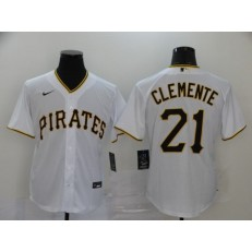 MLB Pittsburgh Pirates #21 Roberto Clemente White 2020 Nike Cool Base Jersey