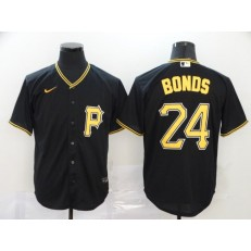 MLB Pittsburgh Pirates #24 Barry Bonds Black 2020 Nike Cool Base Jersey