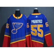 St.Louis Blues #55 Colton Parayko Blue Adidas NHL Jersey