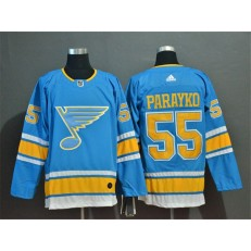 St.Louis Blues #55 Colton Parayko Light Blue Adidas NHL Jersey