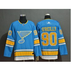 St.Louis Blues #90 Ryan O'Reilly Light Blue Adidas NHL Jersey