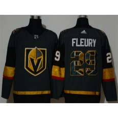 Vegas Golden Knights #29 Marc-Andre Fleury Gray Adidas Fashion NHL Jersey