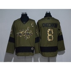 Washington Capitals #8 Alexander Ovechkin Olive Adidas NHL Jersey