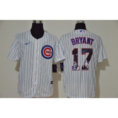 MLB Chicago Cubs #17 Kris Bryant White Nike Cool Base Player Jersey