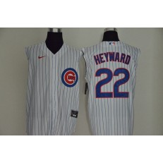 MLB Chicago Cubs #22 Jason Heyward White Nike Cool Base Sleeveless Jersey