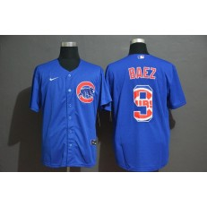 MLB Chicago Cubs #9 Javier Baez Royal 2020 Nike Cool Base Fashion Jersey