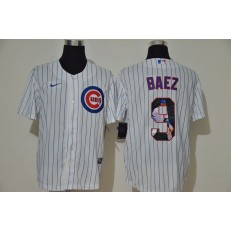 MLB Chicago Cubs #9 Javier Baez White Nike Cool Base Player Jersey