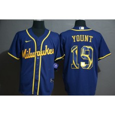 MLB Milwaukee Brewers #19 Robin Yount Royal 2020 Nike Cool Base Fashion Jersey