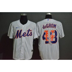 MLB New York Mets #48 Jacob DeGrom White 2020 Nike Cool Base Fashion Jersey