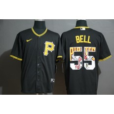 MLB Pittsburgh Pirates #55 Josh Bell Black 2020 Nike Cool Base Fashion Jersey