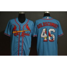 MLB St. Louis Cardinals #46 Paul Goldschmidt Light Blue 2020 Nike Cool Base Fashion Jersey