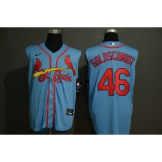 MLB St. Louis Cardinals #46 Paul Goldschmidt Light Blue Nike Cool Base Sleeveless Jersey