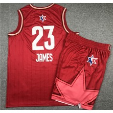 Los Angeles Lakers #23 Lebron James Red 2020 NBA All-Star Jordan Brand Swingman Jersey(With Shorts)