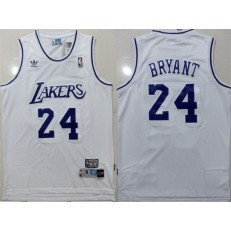 Los Angeles Lakers #24 Kobe Bryant White Hardwood Classics Jersey