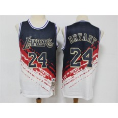 Los Angeles Lakers #24 Kobe Bryant White Independence Day Hardwood Classics Jersey