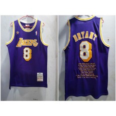 Los Angeles Lakers #8 Kobe Bryant Purple 1996-97 Hardwood Classics Jersey